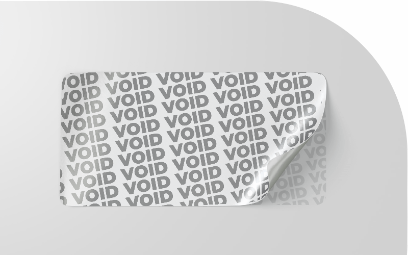 Void labels - Security Label Solution